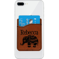 Baby Elephant Leatherette Phone Wallet (Personalized)