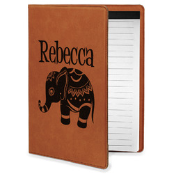 Baby Elephant Leatherette Portfolio with Notepad - Small - Single Sided (Personalized)