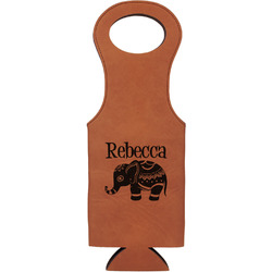Baby Elephant Leatherette Wine Tote (Personalized)