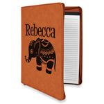 Baby Elephant Leatherette Zipper Portfolio with Notepad (Personalized)