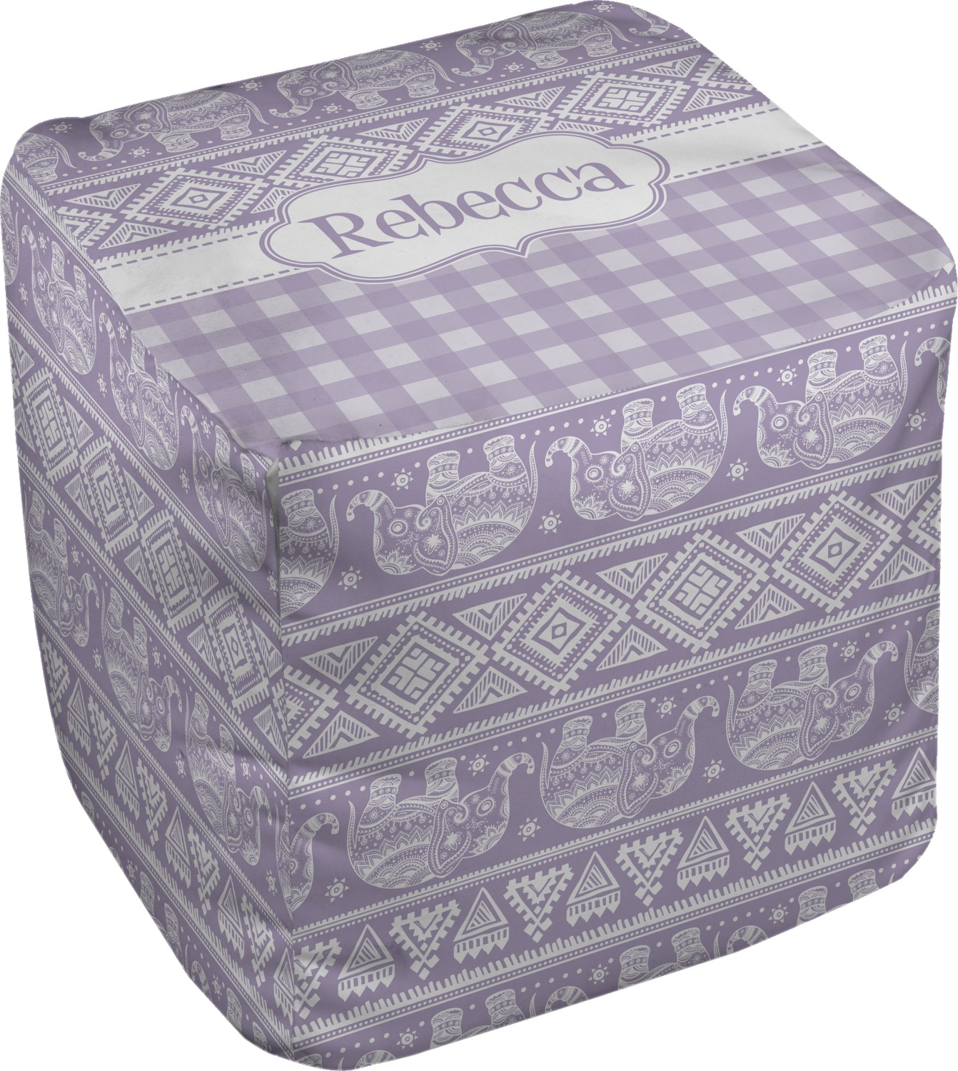 baby elephant cube pouf ottoman 13 personalized. Black Bedroom Furniture Sets. Home Design Ideas