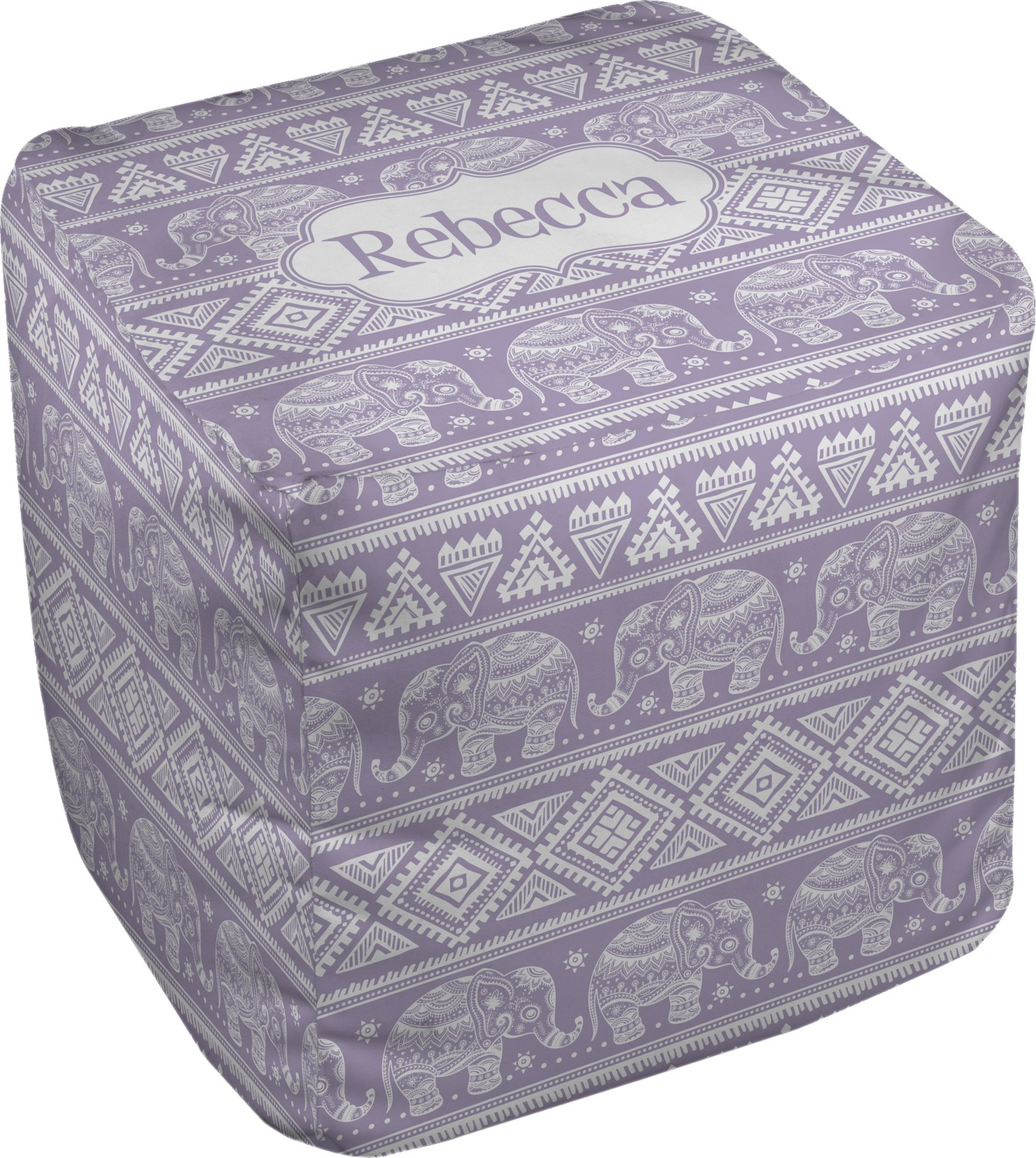 baby elephant cube pouf ottoman 18 personalized. Black Bedroom Furniture Sets. Home Design Ideas