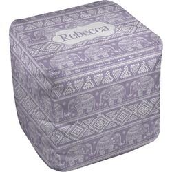 Baby Elephant Cube Pouf Ottoman (Personalized)