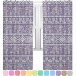 Baby Elephant Curtains (2 Panels Per Set) (Personalized)