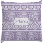 Baby Elephant Decorative Pillow Case (Personalized)