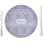 """Baby Elephant Glass Lunch / Dinner Plates 10"""" - Single or Set (Personalized)"""
