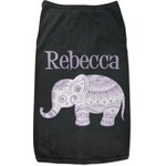 Baby Elephant Black Pet Shirt (Personalized)