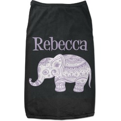 Baby Elephant Black Pet Shirt - 2XL (Personalized)