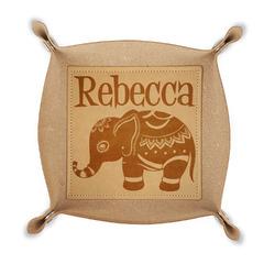 Baby Elephant Genuine Leather Valet Tray (Personalized)