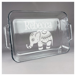 Baby Elephant Glass Baking and Cake Dish (Personalized)