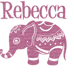Baby Elephant Glitter Sticker Decal - Custom Sized (Personalized)