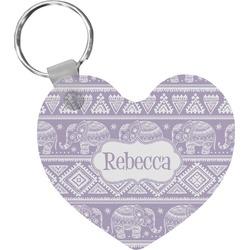 Baby Elephant Heart Keychain (Personalized)
