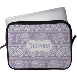 """Baby Elephant Laptop Sleeve / Case - 13"""" (Personalized)"""