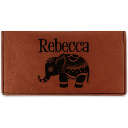 Baby Elephant Leatherette Checkbook Holder (Personalized)