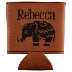 Baby Elephant Leatherette Can Sleeve (Personalized)