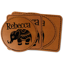 Baby Elephant Faux Leather Iron On Patch (Personalized)
