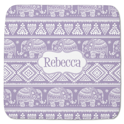 "Baby Elephant Memory Foam Bath Mat - 48""x48"" (Personalized)"