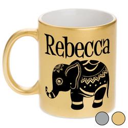 Baby Elephant Metallic Mug (Personalized)