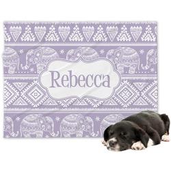 Baby Elephant Minky Dog Blanket - Regular (Personalized)