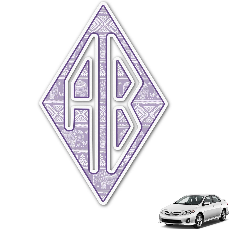 Baby Elephant Monogram Car Decal Personalized YouCustomizeIt - Elephant monogram car decal