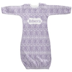 Baby Elephant Newborn Gown (Personalized)