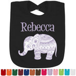 Baby Elephant Bib - Select Color (Personalized)