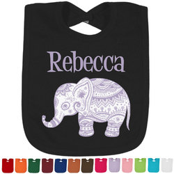 Baby Elephant Baby Bib - 14 Bib Colors (Personalized)
