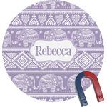 Baby Elephant Round Fridge Magnet (Personalized)