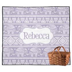 Baby Elephant Outdoor Picnic Blanket (Personalized)