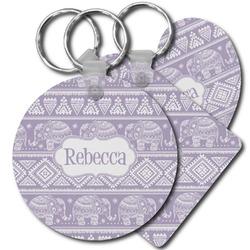 Baby Elephant Plastic Keychains (Personalized)