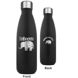 Baby Elephant RTIC Bottle - Black - Engraved Front & Back (Personalized)