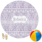 Baby Elephant Round Beach Towel (Personalized)