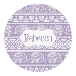 Baby Elephant Round Decal (Personalized)