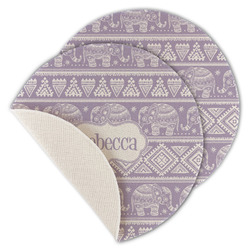 Baby Elephant Round Linen Placemat (Personalized)