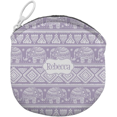 Baby Elephant Round Coin Purse (Personalized)