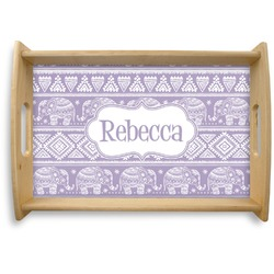 Baby Elephant Natural Wooden Tray (Personalized)