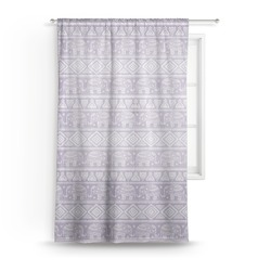 Baby Elephant Sheer Curtains (Personalized)