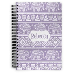 Baby Elephant Spiral Bound Notebook (Personalized)