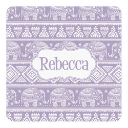 Baby Elephant Square Decal (Personalized)
