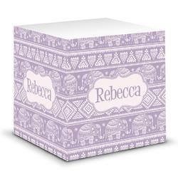 Baby Elephant Sticky Note Cube (Personalized)