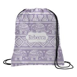Baby Elephant Drawstring Backpack - Large (Personalized)