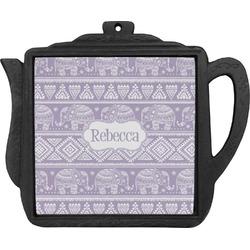 Baby Elephant Teapot Trivet (Personalized)