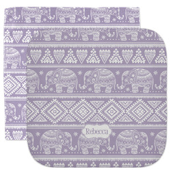 Baby Elephant Facecloth / Wash Cloth (Personalized)