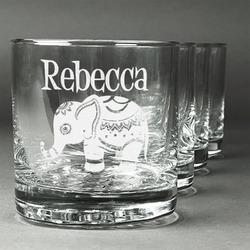 Baby Elephant Whiskey Glasses (Set of 4) (Personalized)
