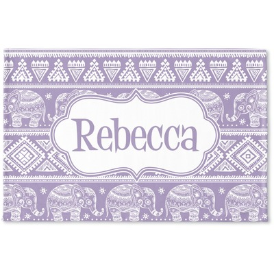 Baby Elephant Woven Mat (Personalized)