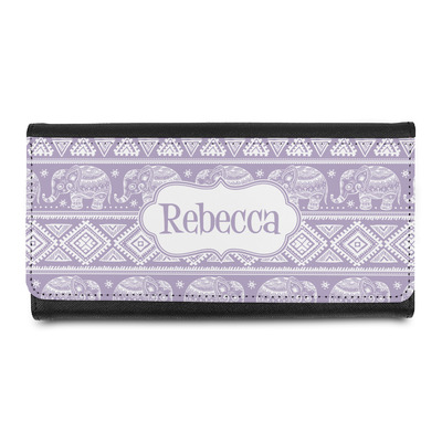 Baby Elephant Leatherette Ladies Wallet (Personalized)