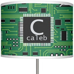 """Circuit Board 13"""" Drum Lamp Shade Polyester (Personalized)"""