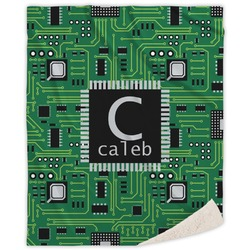 Circuit Board Sherpa Throw Blanket (Personalized)