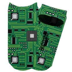 Circuit Board Adult Ankle Socks (Personalized)