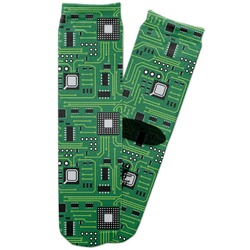 Circuit Board Adult Crew Socks (Personalized)